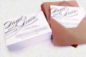 Customised Wedding Invitations