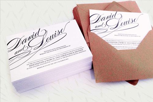 Single Colour Letterpress Invitation